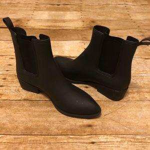 Jeffrey Campbell Short Black Rain boots Size 9
